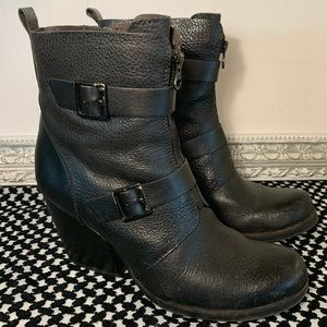 Korks Ease Richards Leather Black Boots Size 8.5M